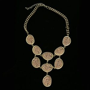 Luxury Crystal Y-Necklace Gold/Pink NWOT